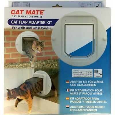 Cat Mate Cat Flap Adapter Kit for Walls and Glass Panels Easy Fit 361W