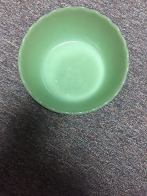 Jadeite Footed bowl with scalloped edge