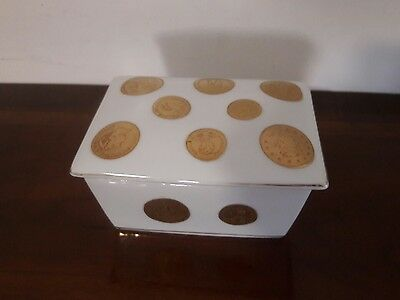 Vintage. ! French Porcelain  Jewelry  Box