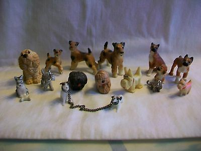 Lot of Dog Figurines Boxer Terrier Sheep Dog Scotty Dog Cocker Spaniel Doxie Dog