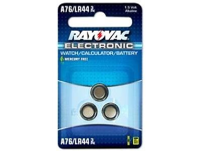 15-Pack A76 / LR44 Rayovac Alkaline Button Batteries (5 x 3 Cards)
