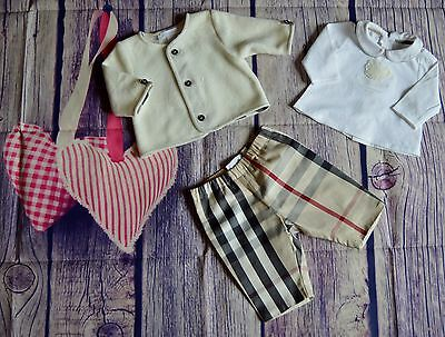 Burberry Baby Boy Or Girls Designer Clothes Bundle Jacket T-shirt Pants 1 Month