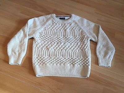 Boys Cream Arran Style Knitted jumper From Next Size 4-5