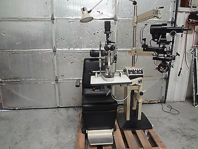 Marco Tilt Chair & Ophthalmic Exam Stand W/ Marco VG Slit Lamp & Phoropter Arm