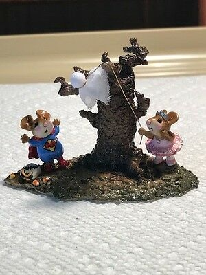 Wee Forest Folk M-339 Sister's Ghostly Trick, Retired.