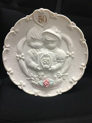 Precious Moments  50Th Anniversary Plate