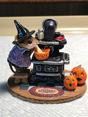 Wee Forest Folk M-185a Old Black Stove Halloween Limited