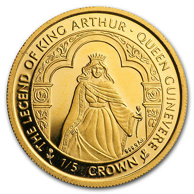 1996 Isle of Man 1/5 oz Gold Queen Guinevere Proof - SKU#153012