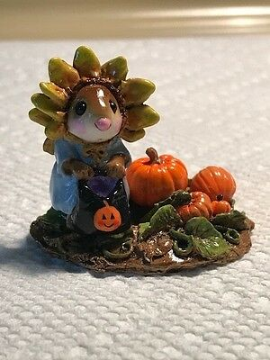 Wee Forest Folk Mouse Sunflower in Pumpkin Patch