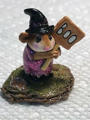 Wee Forest Folk Little Boo-Boo Witch, Purple Glitter