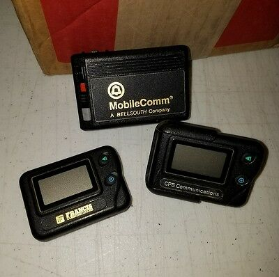 Lot of 3 Vintage Pagers / Beepers Francis, CPS, and MobileComm ~As Is