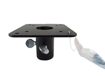 Metal Mounting Flange for 1-inch Poles, Perfect for Bird Feeders & Houses