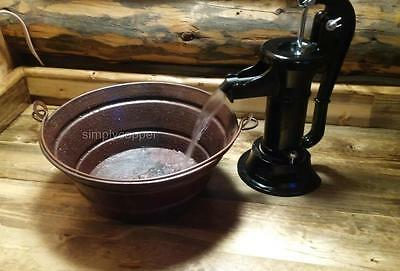 "15"" Round Copper BUCKET Vessel Vanity Sink--Your Choice of Drain"