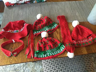 Dayton Hudson Santa Bear Bags and Hats