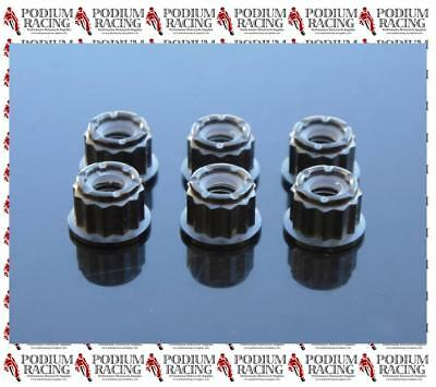 Ducati Black Titanium 12 Point Sprocket Carrier Nuts With Self-Lock 899 1199