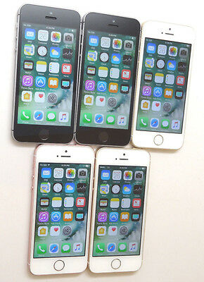 Lot of 5 Apple iPhone SE A1662 16GB GSM Unlocked Smartphones Power On AS-IS