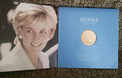 1999 Diana Princess Of Wales Memorial Five Pound Coin By The British Royal Mint