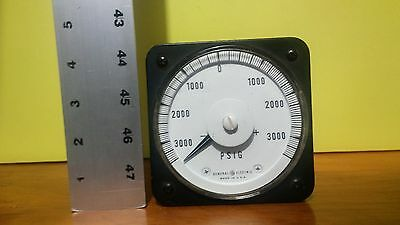 General Electric Pounds per Square Inch 3000 PSIG Gauge D-C Ammeter 18A 292 BH1