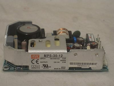 MPS-30-12 MW Mean Well  12V 2.5A 30W Single Output Power Supply
