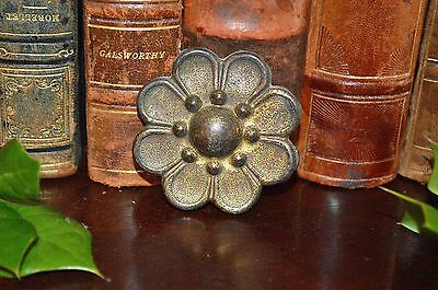 Antique French Bronze Floral Rosette Picture Hook Cover Decoration