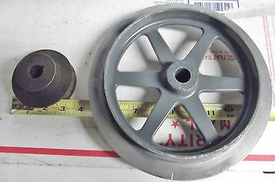 """10"""" LATHE 2 SPEED DRIVE PULLEYS  GOOD CONDITION USED MAY FIT SOUTH BEND or LOGAN"""