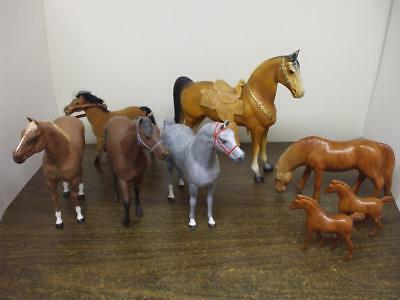 Lot of 8 Vintage Horses - Misc. Un-marked