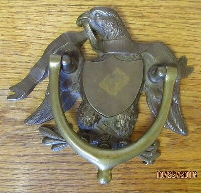 Heavy H. W. Axford Brass American Eagle Door Knocker - 3 Pounds