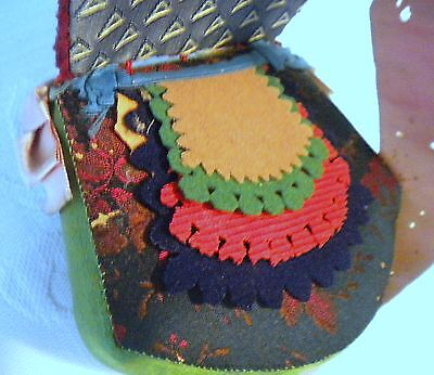 Beautifully Made Antique Hand Made Velvet Needle Sewing Case
