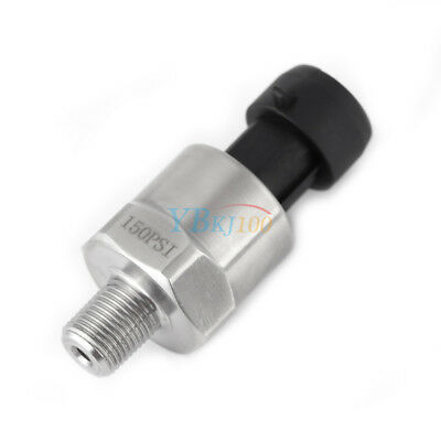 1/8NPT Stainless Pressure Transducer Sender Sensor 0-4.5V Oil Fuel Air 150PSI LJ