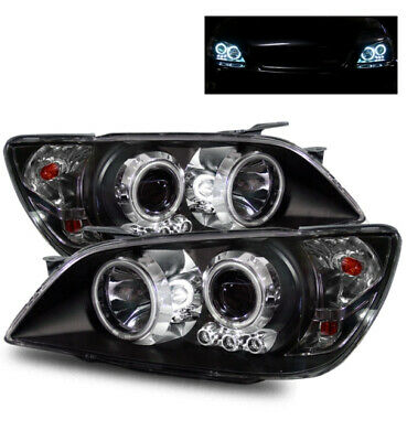 For 01-05 Lexus Is300 Aftermarket Led Ccfl Angel Halo Black Projector Headlights