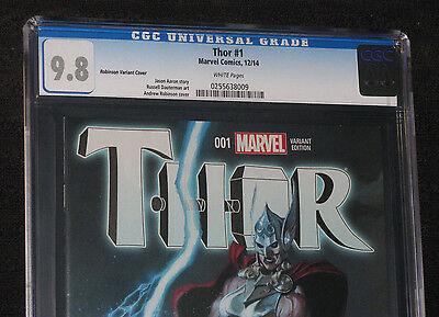 THOR 1 CGC 9.8 NM/MT Robinson Variant 1:50 HTF MOVIE