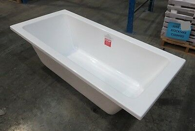 Bath Tub Messina White Acrylic Rectangle 1800 x 800 mm Drop In Inset Style