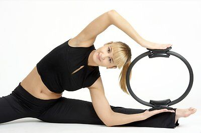 "Pilates Ring Magic Fitness Exerciser Circle Grip Yoga Fitness Trainer 14.7"" New"