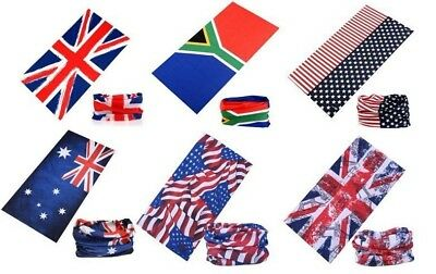 Supporters Flag Bandana Australia South Africa USA UK and Country Flag Designs