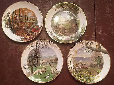 SET OF 4 FRANKLIN PORCELAIN PLATES by PETER BANETT PLATE COLLECTION 1979