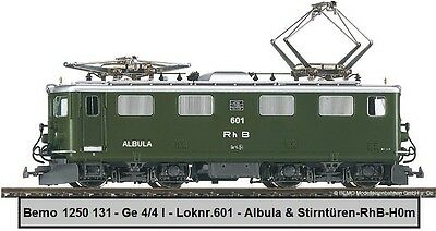 BEMO ALBULA 601 - H0m - RhB - Schnellzug - E Lok - Ge 4/4  ~ Model Train ~ Germa