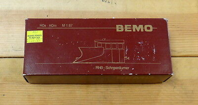 BEMO x 9013 HOe HOm M 1:87 RhB x 9013 Snow Plough Model Train - German Made