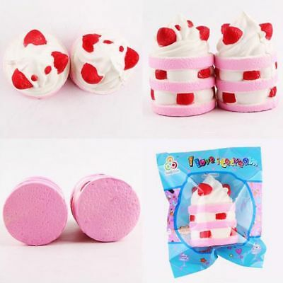 Kawaii Squishy Ice Cream Slow Rising Scented Cup Cake Soft Squishies Cream Toy