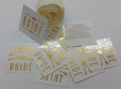 Flash Tattoos for Bride and Bridal Party or Hens Party Temporary Tattoos