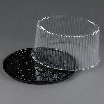 """5 sets Disposable Cake Tray, Carrier, Server Display Container Plastic  10"""""""