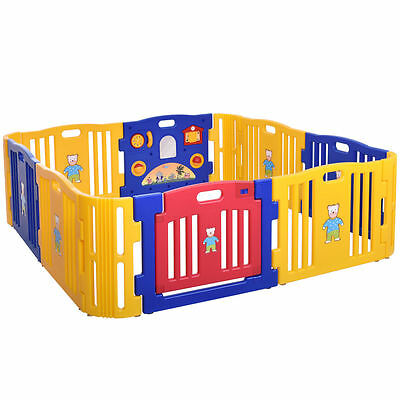12 Portable Toddler Playpen Baby Outdoor Indoor Safety Folding Play Yard Random