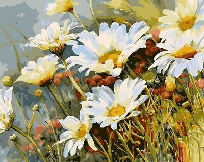 Paint By Number Kit On Canvas Blooming Wild Chrysanthemum DIY Painting PZ7068