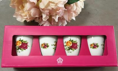 Royal Albert Egg Cups 'Old Country Roses' Set of Four (4)