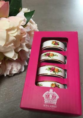 Royal Albert Napkin Rings 'Old Country Roses' Set of Four (4)