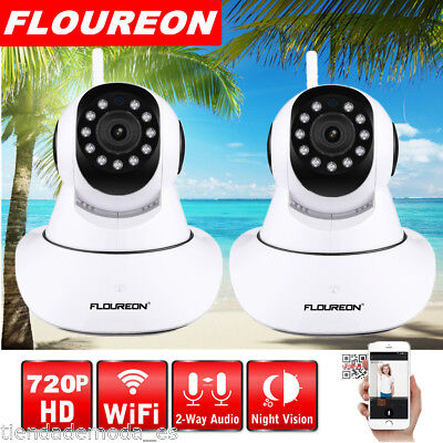 2X Wireless WiFi Security IP Camera 720P HD 2-Way Audio PTZ Video Baby Monitor