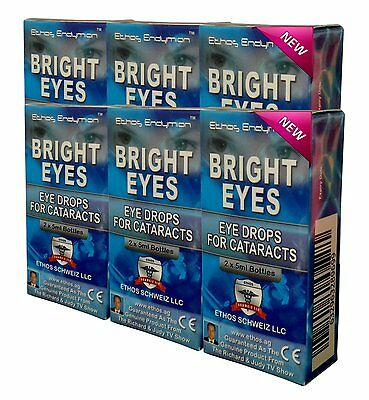 Ethos Bright Eyes Drops Nac Eye Drops For Cataracts 6 BOXES 60ml