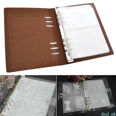 10 Sheets DIY Scrapbooking Cutting Dies Stencil Storage Book Case Synthetic