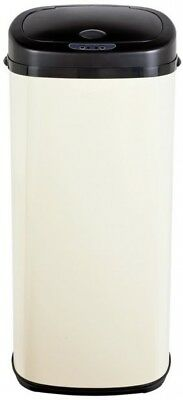 Morphy Richards 50 Litre Sensor Stainless Steel Garbage Waste Bin - Cream