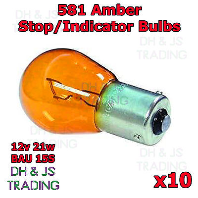 581 12v 21 watt Orange Rear Indicator Bulbs PY21W Blister Pack of 2 RI581 b
