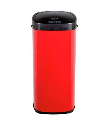 Morphy Richards 50 Litre Stainless Steel Sensor Garbage Waste Bin - Red
